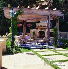 Pergolas and fireplaces a perfect outdoor addition!  We can design yours to fit your needs!