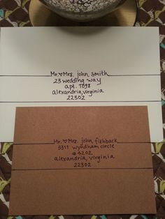 Handwritten addressing of envelopes