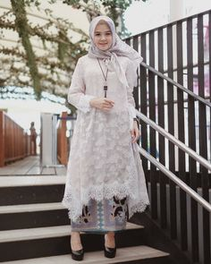 Image may contain: 1 person, standing, child and outdoor Kebaya Modern Hijab, Kebaya Hijab, Kebaya Brokat, Dress Brokat, Kebaya Muslim, Muslim Dress, Kebaya Lace, Kebaya Dress, Batik Fashion