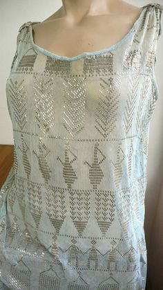 1920s ASSUIT SILVER HAMMERED EGYPTIAN FLAPPER DRESS medium RARE FINAL LISTING #vintagehandmade