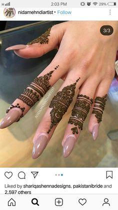 Finger Henna Designs, Stylish Mehndi Designs, Mehndi Designs For Girls, Mehndi Designs For Beginners, Mehndi Designs For Fingers, Beautiful Henna Designs, Best Mehndi Designs, Henna Tattoo Designs, Mehndi Tattoo