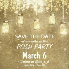MY FIRST PARTY!!!!! Please join me and my PFF @reinem on March 6th at 7pm PST/ 10pm EST as we host OUR FIRST POSH PARTY! We will announce our theme once it has been determined. It will be tricky to choose host picks before we have a theme, but we wanted to get the word out so we could start celebrating! Remember, to be considered for a host pick, your closet must be POSH COMPLIANT! :) Looking forward to partying with all of you! Anthropologie Other