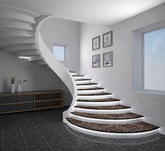 Interior Staircase, Modern Staircase, Staircase Design, Staircase Ideas, White Staircase, Narrow Hallway Decorating, Foyer Decorating, Small Entryways, Small Hallways