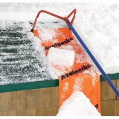 Avalanche snow removal roof rake for preventing ice dams