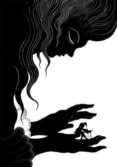 Alberto Vazquez. Illustration from Poe. Pajarito Pequeno.
