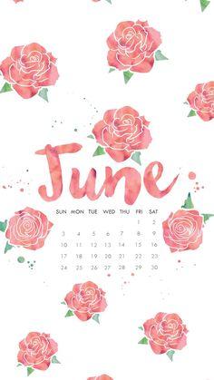 June 2018 calendar wallpaper phone iPhone