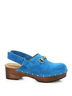 58901eb95a8 Gucci - Amstel Studded Suede Slingback Clogs