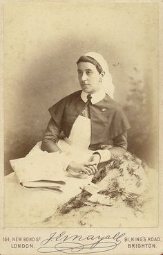 Nurse Helen Norman August 1885.This may well be an early image of Helen Campbell Norman RRC who went on to become Lady Superintendent of Nurses at the Royal Victoria Military Hospital Netley