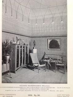 Amazing Art Nouveau interior by Richard Riemerschmid from 1899.