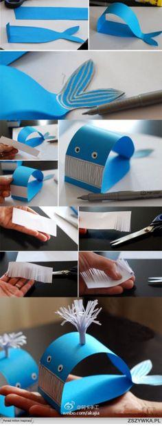 Кит из бумаги