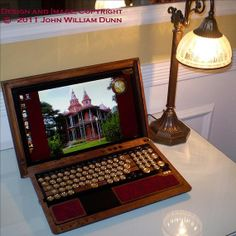 eCog Mercury Ver. 1 Steampunk Cover for the Sony VAIO F-Series Laptop, Boilerplate Edition (Wood Case Only) on Etsy, $1,250.00
