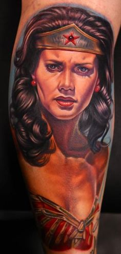 #13 Wonder woman - Top 15 Superhero Tattoos: http://www.tattoos.net/articles/tattoos/top-superhero-and-comic-book-tattoos/