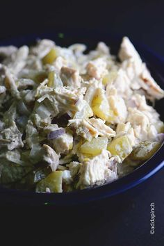 Chicken Salad with Pickles makes a delicious meal throughout the year. Perfect for a light lunch or supper and for entertaining.