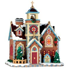 Lemax United Hope Church. SKU# 65115.  Released in 2016 as a Lighted Building for the Caddington Collection.