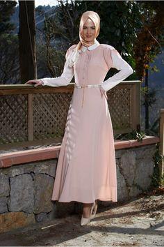Tesettür Giyim - BAYAN ELBİSE TS-1102 - Online Satın Al | tessettur.com | İPEKMODA