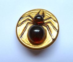 Fab large rare vintage Bimini style spider button Glass Developments Ltd London