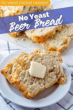 beer bread/beer bread recipe/beer bread easy/beer bread recipe easy/beer bread dip/beer bread recipe tastefully simple/beer bread self rising flour/beer bread recipe 3 ingredients/Beer Is Bread .com/allforyou/beerbread Easiest Bread Recipe No Yeast, Easy Bread Recipes, Baking Recipes, No Yeast Bread, Yummy Recipes, Chicken Recipes, Recipies, Dip For Beer Bread, Honey Beer Bread