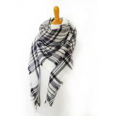Plaid Blanket Scarf Blanket Scarf Tartan Plaid by INTHEBAGDesign