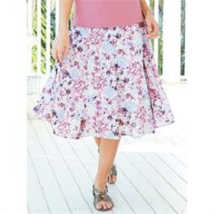 Burnout Spring Blossom Skirt