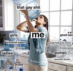 Literally all the gay shit. Lesbian Humor, Lesbian Pride, Lesbian Love, Lesbian Quotes, Gay Lindo, Lgbt Memes, Gay Aesthetic, Haha, Cute Gay