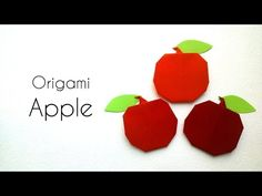 How to make Easy Origami Apple- Simple Origami Tutorials for Kids - YouTube
