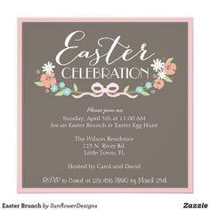Easter Brunch Card Easter Brunch and Easter Egg Hunt invitations
