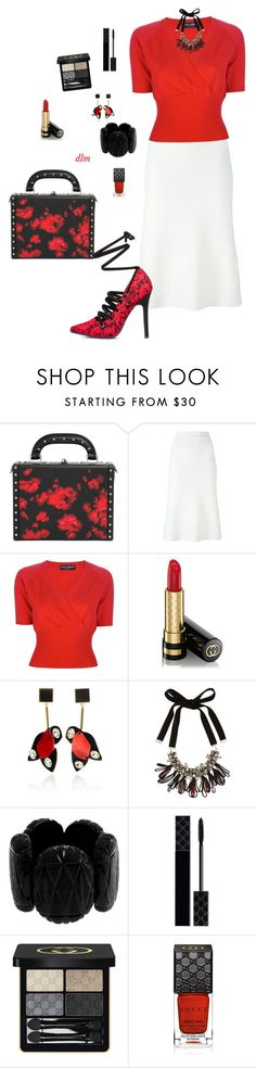 """""""Red"""" by dmiddleton ❤ liked on Polyvore featuring Bertoni, Victoria Beckham, Dolce&Gabbana, ShoeDazzle, Gucci and Marni"""
