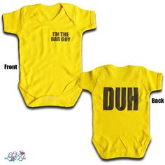 Bad Guy Baby Grow from Lulah Blu. Personalised the text on this baby grow, we have all sizes from Newborn to 2 years. Baby Grows, Cotton Shorts, Short Sleeves, Colours, Guys, Billie Eilish, Stuff To Buy, Clothes, Baby Jumpsuit