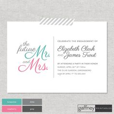 Engagement Party Invitation  The Future Mr. & by gaffneyprintables