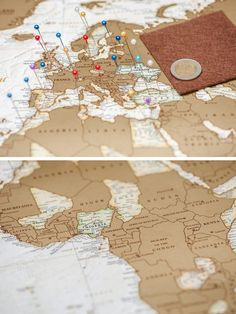 This beautiful scratch off world map will remind you of all the amazing places you've been! Using a coin to rub off the upper gold foil layer of the