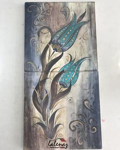 Fashion and Lifestyle Turkish Decor, Turkish Art, Turkish Tiles, Fabric Painting, Painting On Wood, Summer Color Palettes, Tulip Tattoo, Islamic Wall Art, Arabic Art