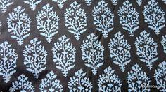 Cotton fabric  blockprint fabric  paisley by DesiFabrics on Etsy, $4.00