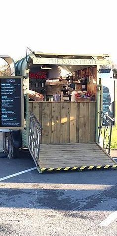 Lancashire Prop Hire & Mobile Bar Hire The Nags Head Concession Trailer, Food Trailer, Converted Horse Trailer, Horse Box Conversion, Mobile Bar, Mobile Stand, Mobile Coffee Shop, Coffee Trailer, Mobile Food Trucks