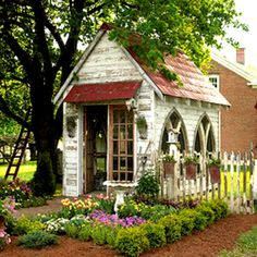 "I met a woman once who had a ""chapel"" in her back yard she used to be alone to study and pray. I wish I had one....French country chapel behind a private home."