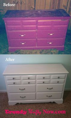 Painted Dresser Redo From Goodwill Decorative Handles And S Mod Podged With Fancy Sbook Paper