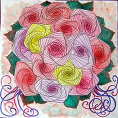 zentangle roses - Google Search