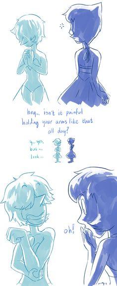 blue pearl's workout part 2: http://zottgrammes.tumblr.com/post/137815005800/blue-diamond-finds-out-sequel