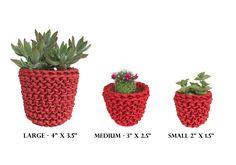 Mini Planter Small Cactus Planter Air Plant Holder Succulent Pot Home Decor Plant Pots Small Planters Unique Planters Knitted Planters by knitknotsupplyco on Etsy https://www.etsy.com/listing/551790305/mini-planter-small-cactus-planter-air