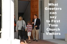 Free welcome speeches for church greeters on how what to say welcome to church visitors. Sample words of greeting for to greet church visitors.