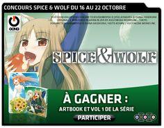 [CONCOURS SPICE & WOLF] A GAGNER cette semaine, des artbooks et des volumes 1 de la série SPICE & WOLF ! Rendez-vous sur la page Facebook de GONG pour participer : https://www.facebook.com/GONG
