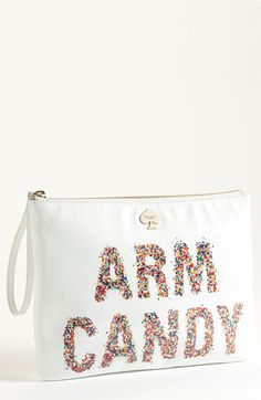kate spade new york 'arm candy' leather pouch available at #Nordstrom