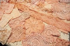 Dye your doilies pink with avocados!  Wonderful Tutorial! by thelma