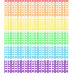 Rainbow Heart Checklists Printable
