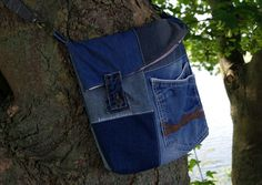 Tasche Jeans Patchwork Upcycling 09