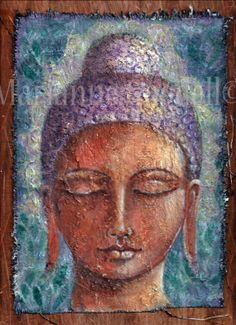 Original One of a Kind Buddha Painting Canvas by illuminationsart, $70.00