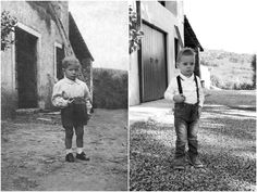 Ca 'Rugate, September 1952 - September 2014   #TBT: in these photos, grandfather and grandson, after 62 years, in the same court of the Rugate,  A journey through time. From yesterday to today.