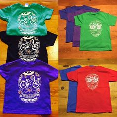 Valentine'd Day gift for kids special offer! Buy a kids sugar skull bicycle t shirt and receive a free card!