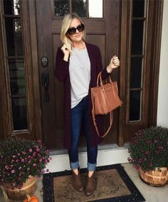 58 Most Beautiful Business Casual Fall Outfit for Women with Cardigans - Casual Fall Outfits, Fall Winter Outfits, Autumn Winter Fashion, Cute Outfits, Sac Michael Kors, Funeral Outfit, Mode Jeans, Mommy Style, Look Chic