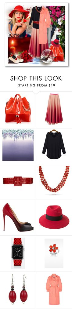 """""""Hollow Black T-shirt with Romwe( Contest with Prize)"""" by ane-twist ❤ liked on Polyvore featuring Kartell, RED Valentino, Designers Guild, Alice + Olivia, Bling Jewelry, Christian Louboutin, Maison Michel, Casetify, Del Gatto and Oscar de la Renta"""