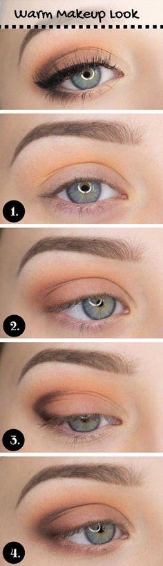 How to Do Casual Makeup Look   Everyday Makeup by Makeup Tutorials at http://www.makeuptutorials.com/makeup-tutorial-12-makeup-for-blue-eyes #makeupschool